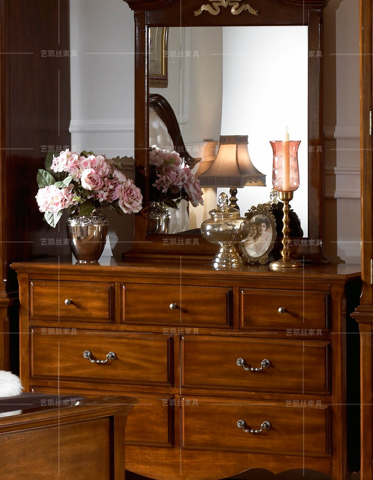 简欧式家具实木梳妆台