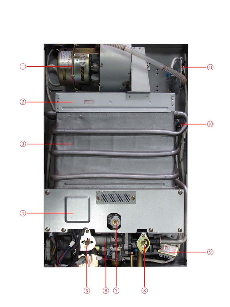 万和强排天然气热水器电路图一