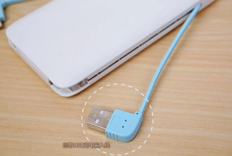妮佳10000毫安聚合物移动电源超薄充电宝充电器小米三星手机充电器(绿