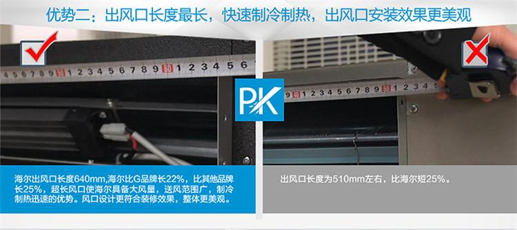 家用中央空调 海尔 kfrd-72nw/56cba12 3匹风管机