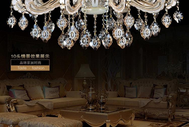 【新款吊灯】欧式水晶吊灯 奢华复式楼水晶灯 客厅 灯