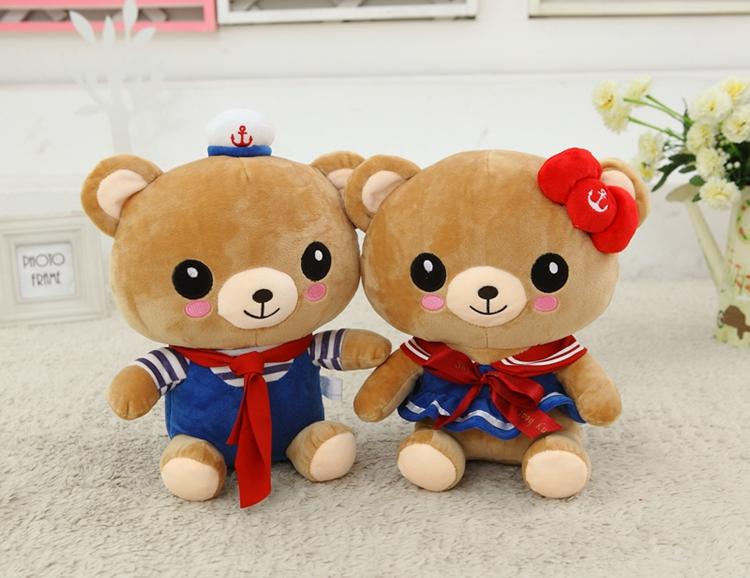 情侣海军熊公仔轻松熊玩偶大抱熊布娃娃 婚庆压床娃娃