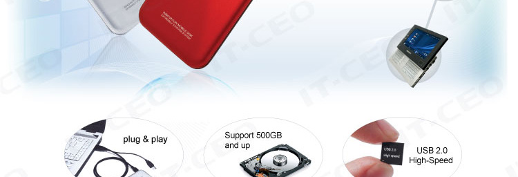 it-ceo it-700 2.5英寸 sata接口移动硬盘盒(银色)