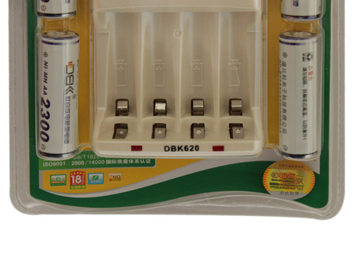 迪比科(dbk) 620-2300镍氢充电电池快充套装 (迪比科620充电器 4节5号
