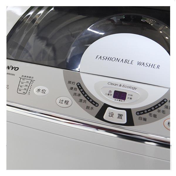 三洋(sanyo) xqb60-m808n 6公斤 高效耐用波轮洗衣机(亮灰色) 电脑