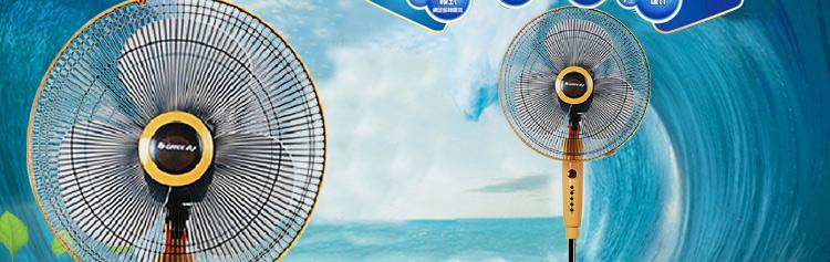 格力(gree) fsd-40b 遥控式落地扇/电风扇(三档风速 三种风类 7.