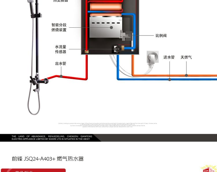 前锋(chiffo)jsq24-a4/403  智能 恒温 天然气热水器